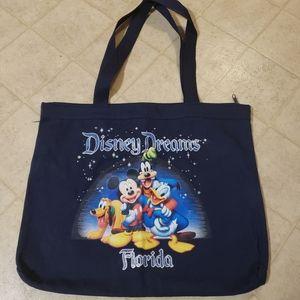 Disney zip up tote bag blue